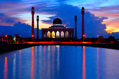 Mosque in songkha in thailand. Dome islam Royalty Free Stock Image