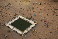 Mosque square. Square of Jama Masjid mosgue in Delhi, India Royalty Free Stock Photo