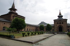 Mosque in Srinagar in Kashmir, India Royalty Free Stock Photo