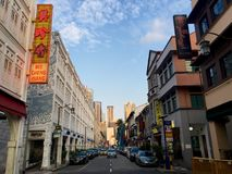Mosque St in Chinatown Singapore Stock Photos