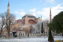 Mosque St. Sophia, sunny january day. Istanbul Royalty Free Stock Photography