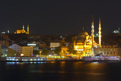 Mosque stands on coast near road Royalty Free Stock Image