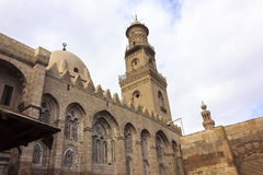 The mosque of Sultan al-Nasir Muhammad ibn Qalawun. He Sultan al-Nasir Muhammad ibn Qala'un Mosque is an early 14th-century mosque at the Citadel in Cairo, Egypt Royalty Free Stock Photo