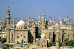 Mosque of sultan Hasan. And cityscape of Cairo, capital of Egypt Stock Photography
