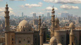 Mosque of Sultan Hassan. Cairo.  Egypt. Timelapse stock video
