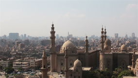 Mosque of Sultan Hassan. Cairo. Zoom. stock video
