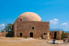 Mosque of Sultan Ibrahim Han in Rethymno at Crete Royalty Free Stock Photo