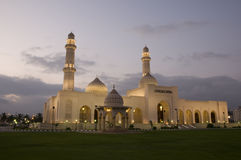 Mosque Sultan Qaboos in night, Salalah, Oman Royalty Free Stock Photos