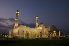 Mosque Sultan Qaboos in night, Salalah, Oman Stock Image