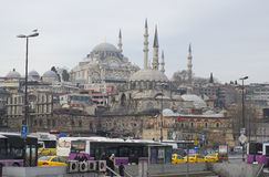 The mosque of Sultan Suleiman the Magnificent January morning. Istanbul Stock Images