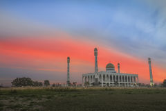 Mosque. Sunrise at the mosque in Songkhla Thailand Royalty Free Stock Images