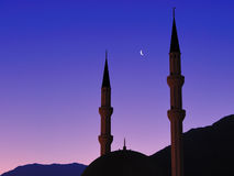 Mosque at sunset. Turkey, Kemer,Antalya royalty free stock image