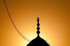 Mosque at sunset. A detail of a mosque at sunset Stock Photo