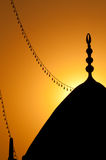 Mosque at sunset. A detail of a mosque at sunset Royalty Free Stock Image