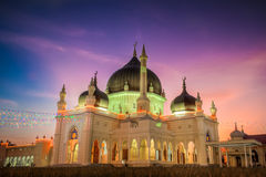 A Mosque at sunset Stock Photo