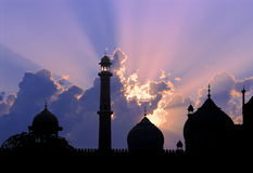 Mosque sunset royalty free stock image