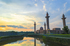 Mosque with sunset background Royalty Free Stock Images