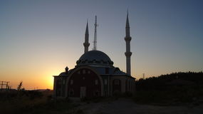 Mosque and sunset Royalty Free Stock Photography