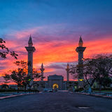 A Mosque and sunset Royalty Free Stock Image