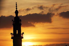 Mosque during sunset Royalty Free Stock Photography