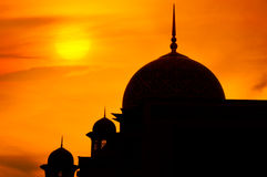 Mosque in sunset Stock Images