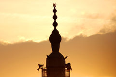 Mosque during sunset Royalty Free Stock Photo