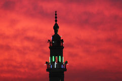 Mosque with sunset Stock Photo