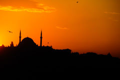 Mosque at sunset Stock Image