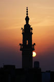 Mosque with sunset Royalty Free Stock Images