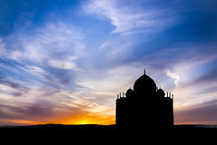 Mosque at sunset Royalty Free Stock Photography