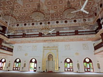 Mosque in Surat. People from the Dawoodi Bohra community residing in Surat, India visit the mosque for daily prayers as well as for religious sermons on various Royalty Free Stock Photos