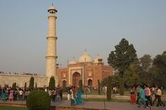 Mosque in Taj Mahal, India -November 2011 Royalty Free Stock Photo