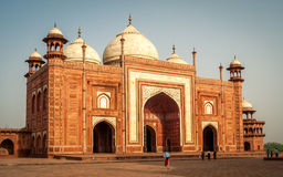Mosque at Taj Mahal. Temple Royalty Free Stock Photography