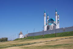 Mosque on territory of Kremlin, city Kasan Stock Photo