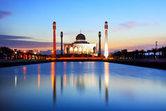 Mosque in thailand. Beautiful sunset at the mosque in Thailand Royalty Free Stock Photos
