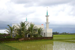Mosque. At-Thariq Mosque at Pangkep Indonesia stock image
