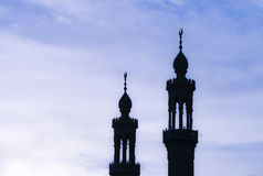 A mosque tower. Reaching to the sky royalty free stock photography
