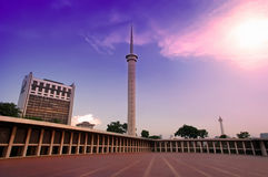 Mosque Tower and The Beautiful Sky stock photos