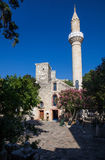 Mosque with tower at Bodrum Stock Image