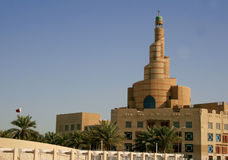 Mosque Tower in Doha, Qatar. Royalty Free Stock Photos