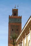 Mosque tower in Marrakech Royalty Free Stock Photos