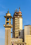 Mosque and tower near Al-Ataba Square in Cairo Stock Photo