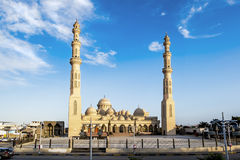 The mosque in the town of Hurghada in Egypt Stock Images