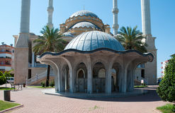 Mosque in the town of Manavgat. Turkey. Stock Photos