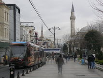 Mosque and tram Stock Image