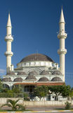 Mosque in Turkey. Mosque with two minarets in Turkey, monument of architecture Royalty Free Stock Photo