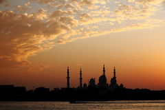 MOSQUE AT TWILIGHT Royalty Free Stock Photography