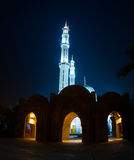 Mosque and two minarets. At night, in Sharm el Sheik, Egypt Royalty Free Stock Images