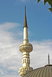 Mosque with two minarets Stock Photo