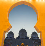 Sheikh Zayed Grand Mosque, Abu Dhabi United Arab Emirates Royalty Free Stock Photos